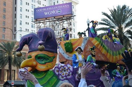 Mardi Gras parade float