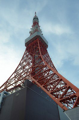 The view from the base of Tokyo Tower