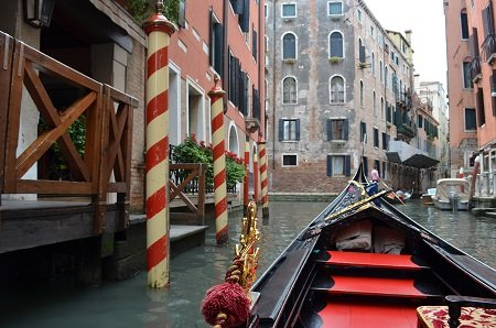 Must do: A gondola ride through the canals of Venice.