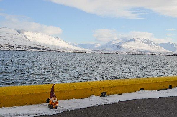 Akureyri's Eyjafjörður, the longest fjord in Iceland.