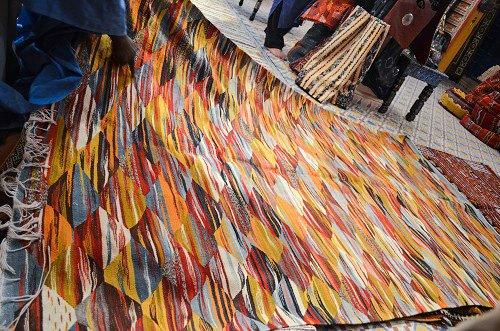 Berber carpet representing ll the colors of the landscape.