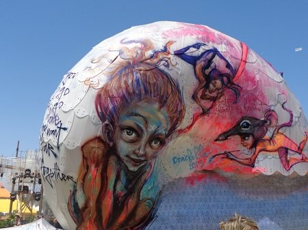 The art installations at Coachella move, grow, and change throughout the festival.