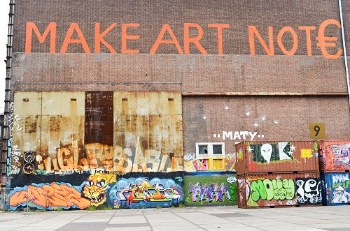 At the NDSM wharf, graffiti artists use shipping containers as their canvas.