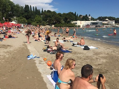 Sorry, Croatia. That's not a beach; that's a pile of dirty sand on a concrete pier.