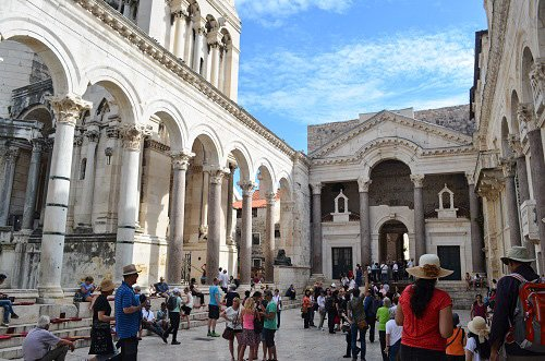 The ruins of Diocletian's Palace, where you'll find all the people that aren't on the beach.