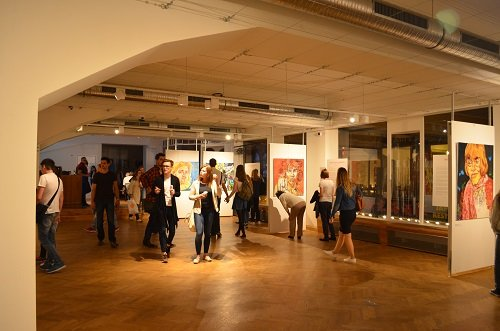 Gallery at Palác Lucerna during Museum Night.