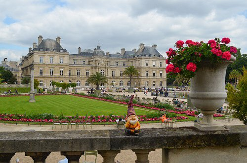 The Jardin du Luxembourg on a breezy summer day.