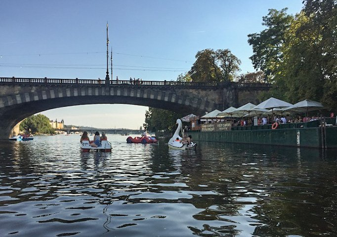 Prague paddleboats