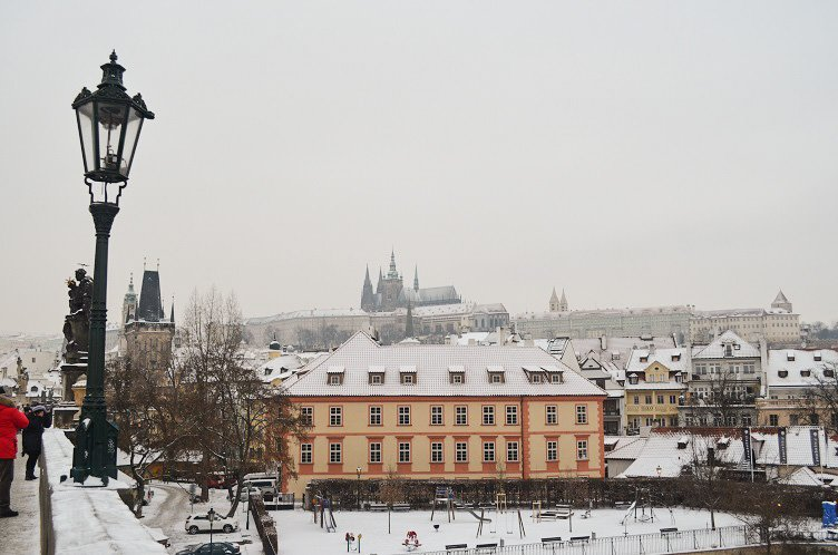 prague snow
