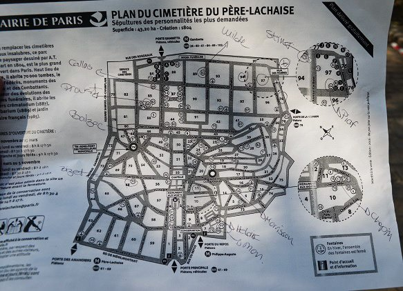 map of pere lachaise