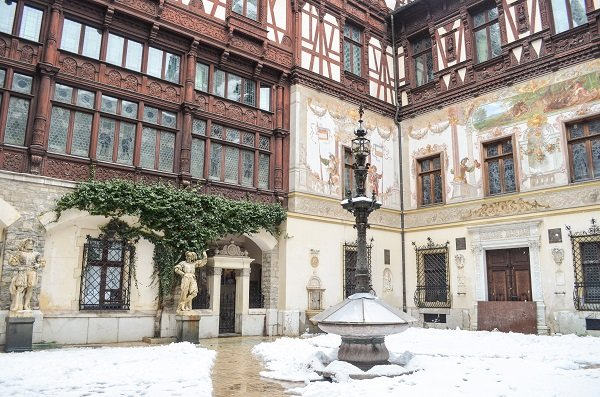Courtyard of Peles Castle