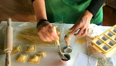 pasta-making class in milan